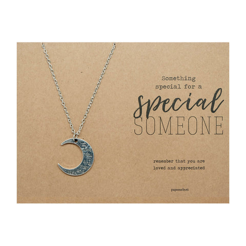 Moon with I Love You Necklace Jewelry Gift Card