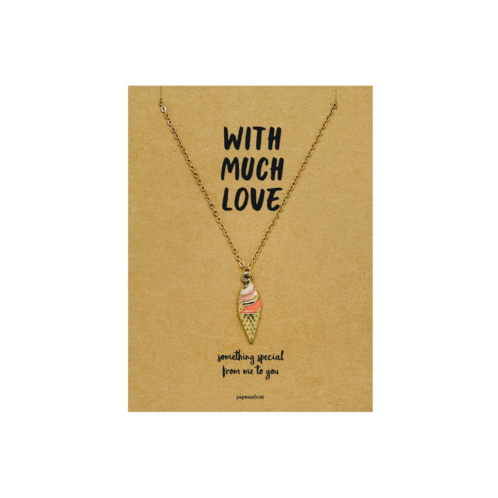 Ice Cream Necklace Jewelry Gift Card