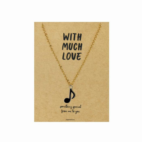 8th Note Necklace Jewelry Gift Card