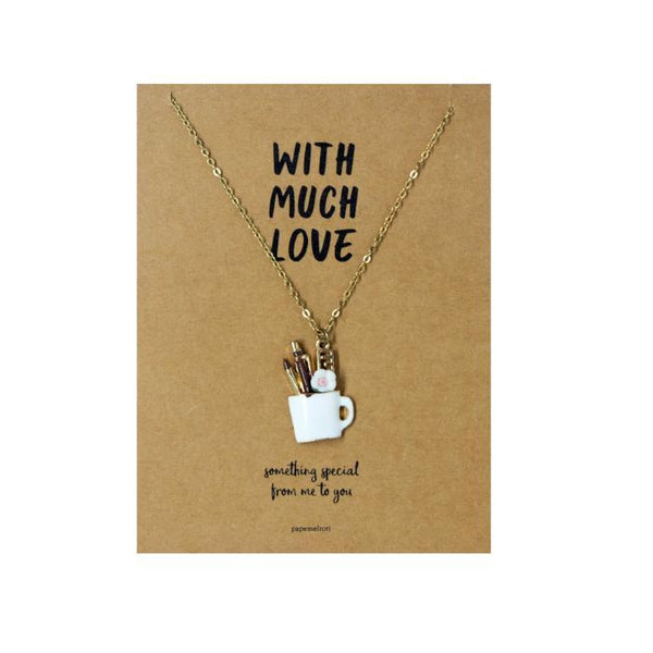 Penholder Necklace Jewelry Gift Card