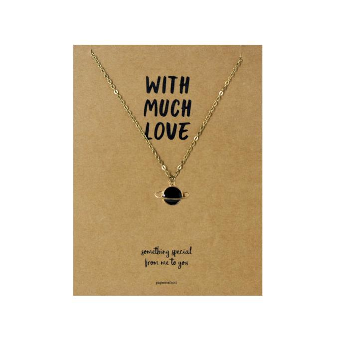 Planet Necklace Jewelry Gift Card
