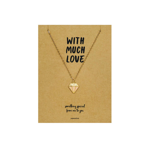 Diamond Shape Necklace Jewelry Gift Card
