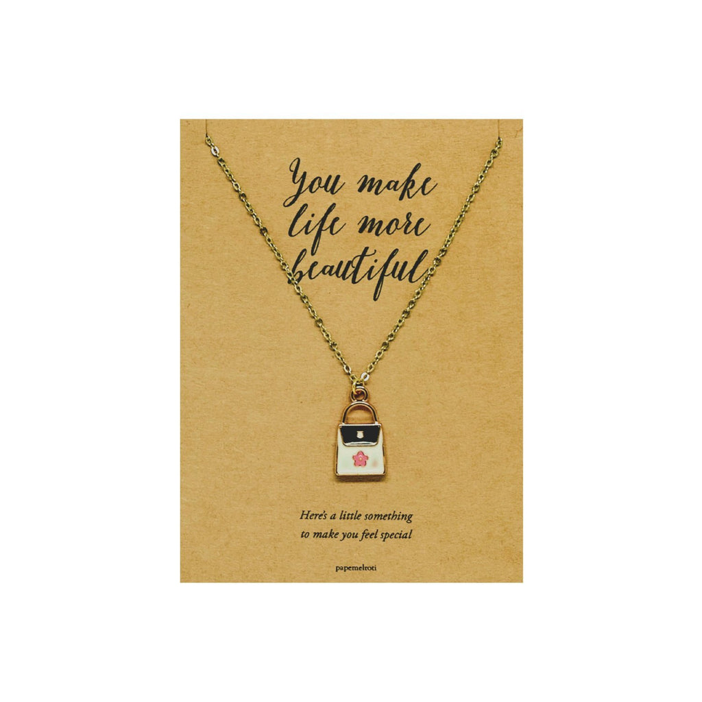 Bag Necklace Jewelry Gift Card
