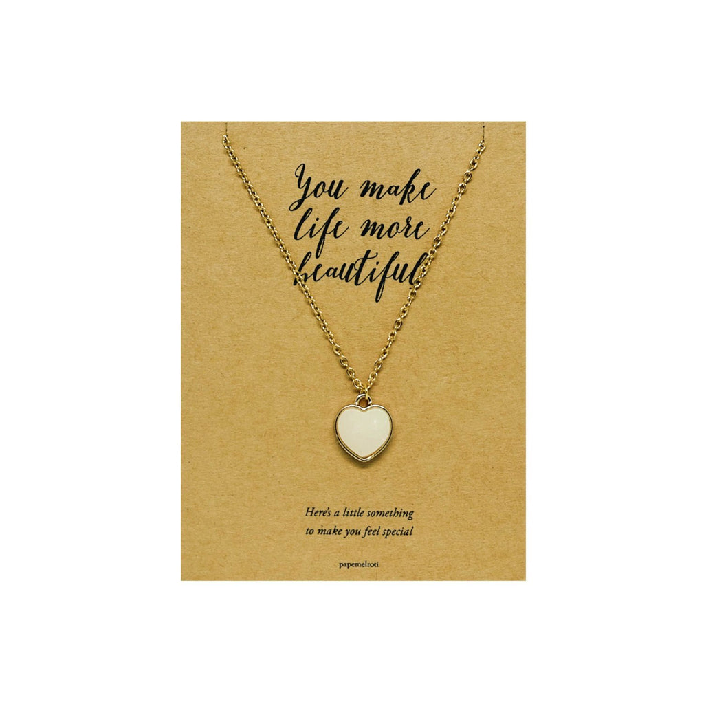Heart Necklace Jewelry Gift Card
