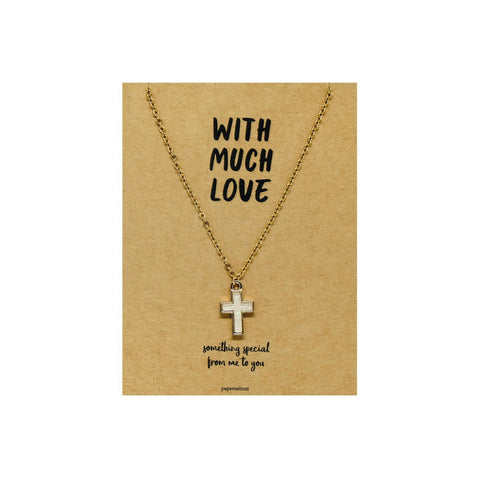 Cross Necklace Jewelry Gift Card