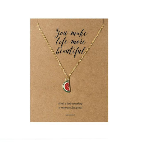 Watermelon Necklace Jewelry Gift Card