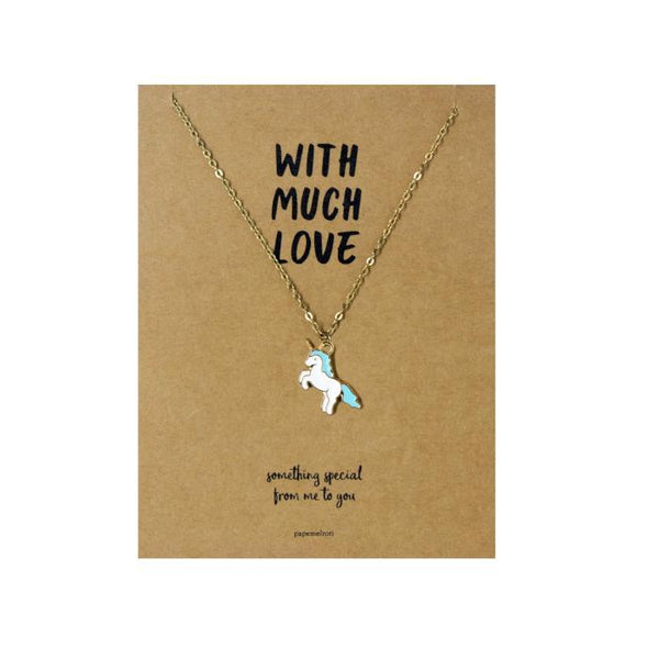 Unicorn Necklace Jewelry Gift Card