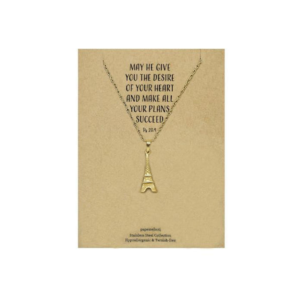 Eiffel Tower Gold Necklace