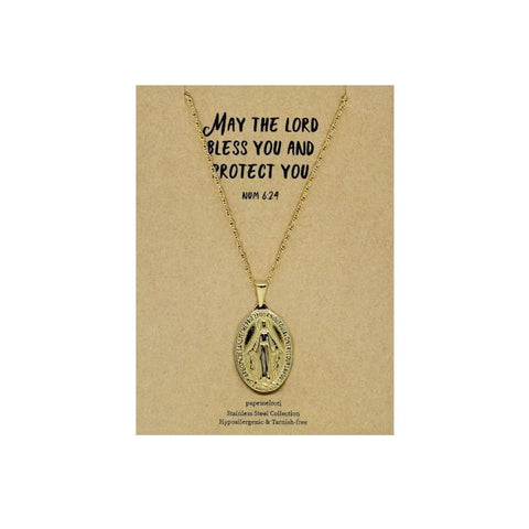 Our Lady of Miraculous Gold Necklace
