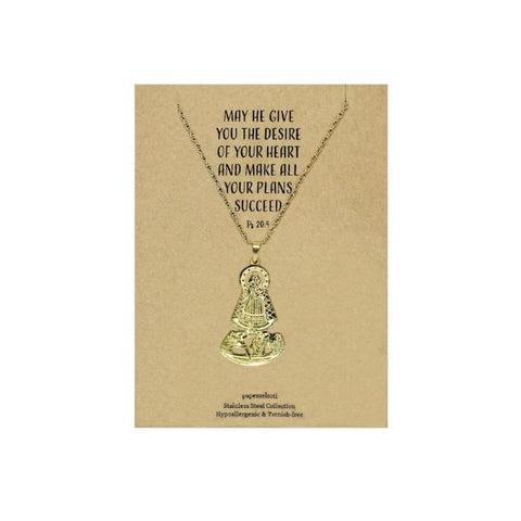 Our Lady of Manaoag Gold Necklace