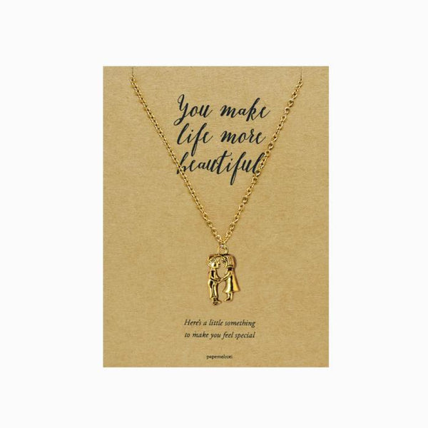 Couple Necklace Jewelry Gift Card
