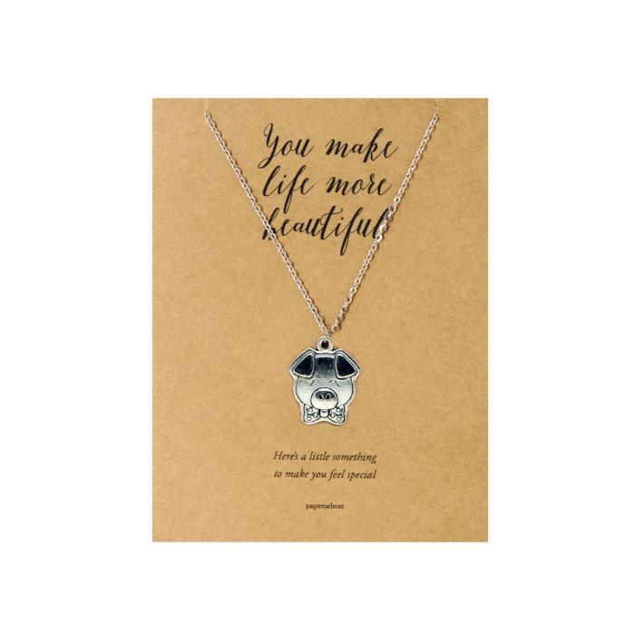 Pig Necklace Jewelry Gift Card
