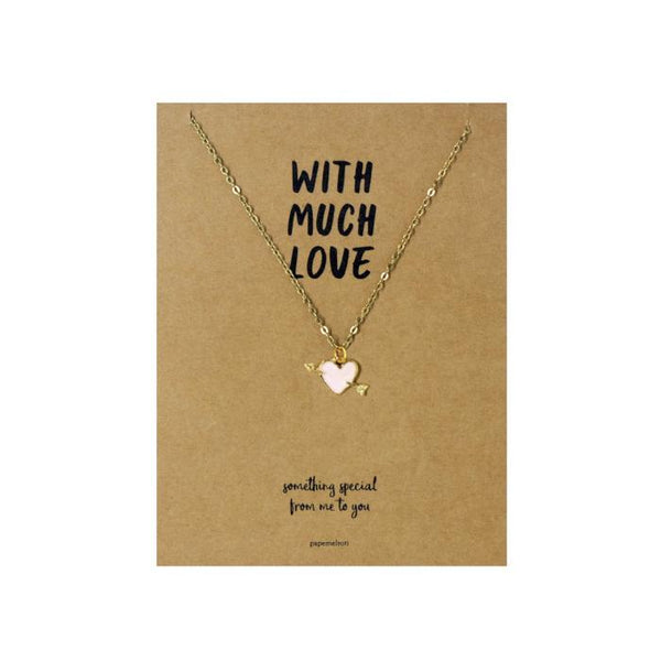 Heart with Arrow Necklace Jewelry Gift Card