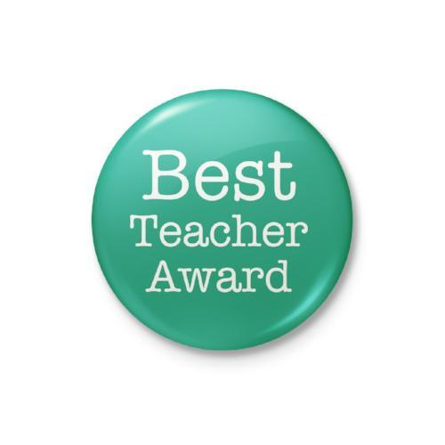 Best Teacher Award Badge