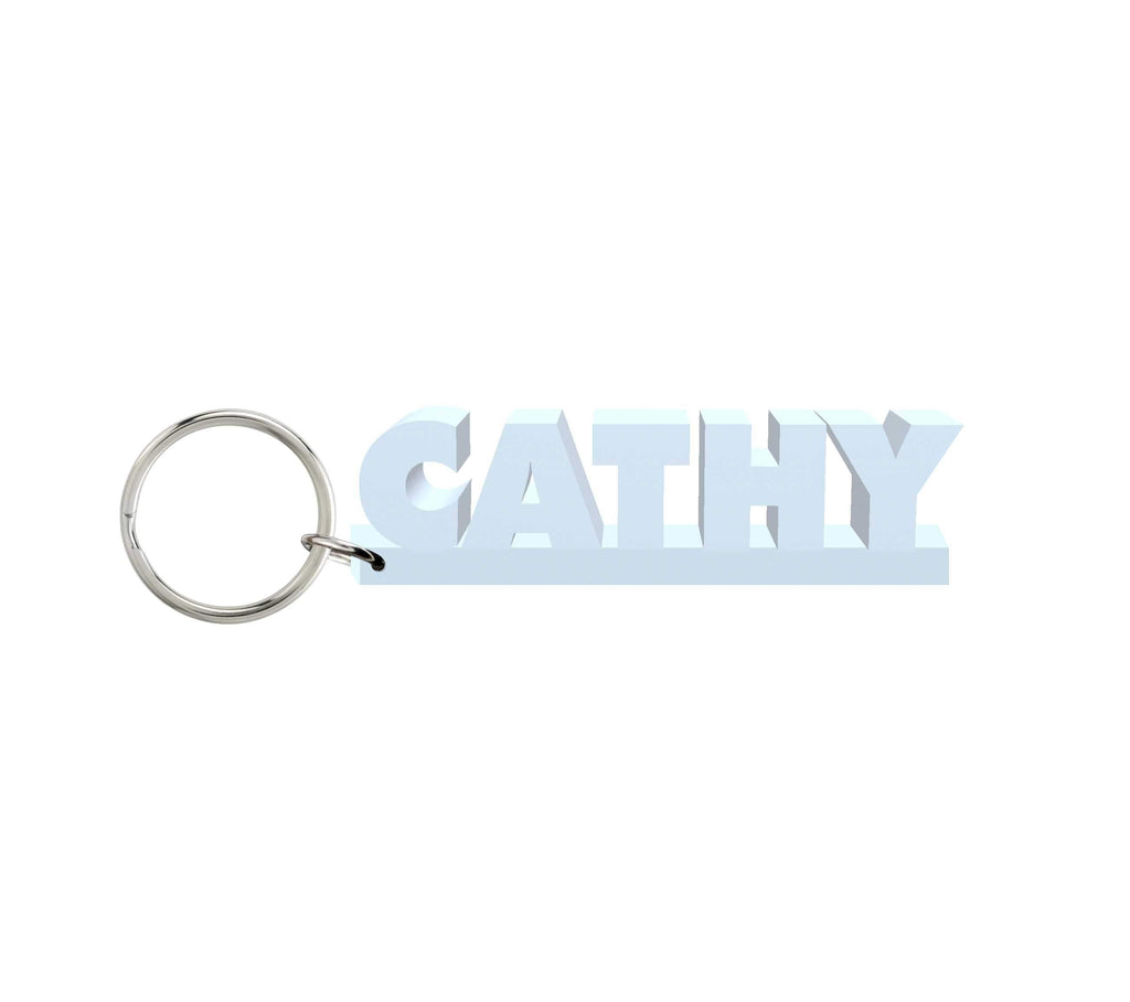 Cathy Wooden Name Keychain