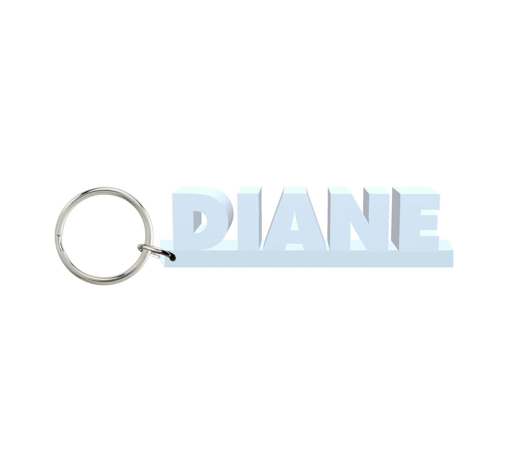 Diane Wooden Name Keychain