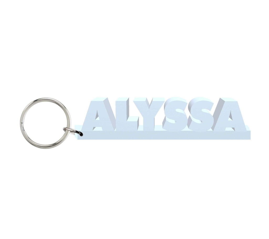 Alyssa Wooden Name Keychain