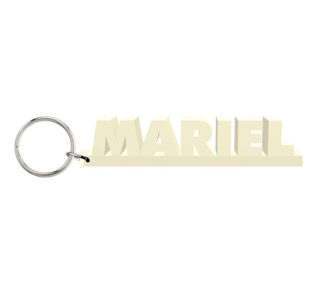Mariel Wooden Name Keychain