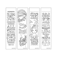 Bible Inspiration: Be Strong Creative Coloring Bookmarks