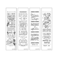 Bible Inspiration: Blessed Creative Coloring Bookmarks
