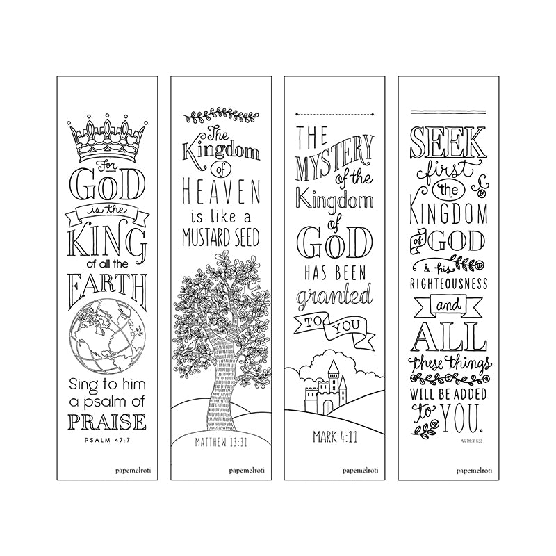 Bible Inspiration: Kingdom Creative Coloring Bookmarks