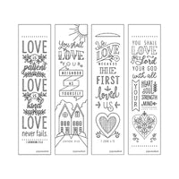 Bible Inspiration: Love Creative Coloring Bookmarks