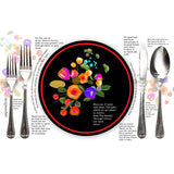 Black Enamel Printable Party Placemat Freebie
