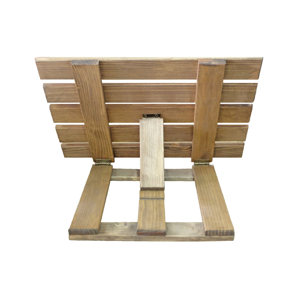 Heavy Duty Book Stand: Stained Wood