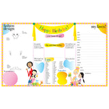 Chic Birthday Printable Party Placemat