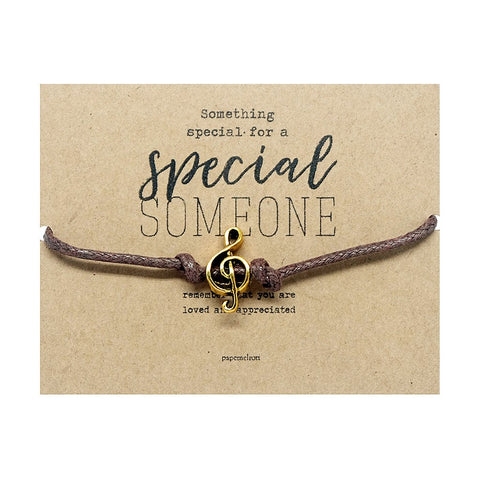 G-Clef Cord Bracelet Jewelry Gift Card