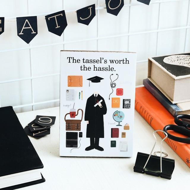 The Tassel's Worth the Hassle: Photo Plaque Male