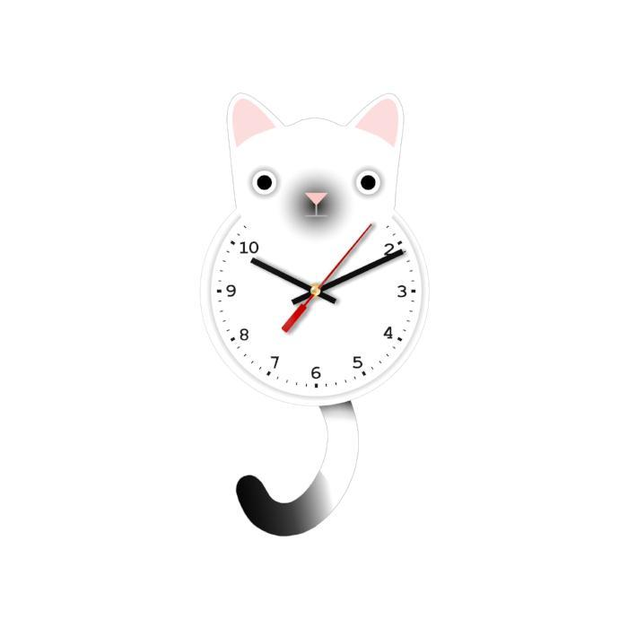 Hailey Cat Clock