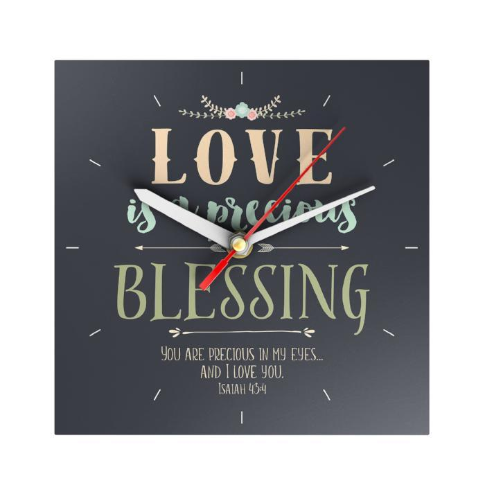 Love Is a Precious Blessing Clock