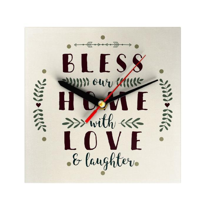Bless Our Home Clock