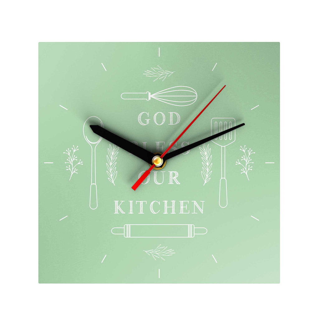 God Bless Our Kitchen Clock