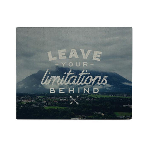 Leave Your Limitations Canvas Poster