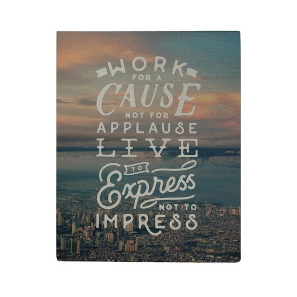 Work for a Cause Canvas Poster