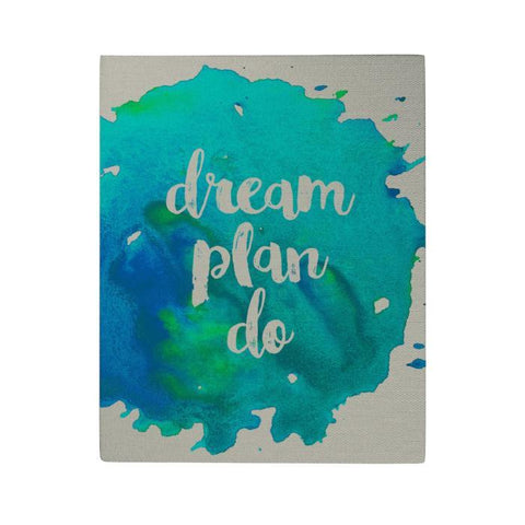 Dream Plan Do Canvas Poster