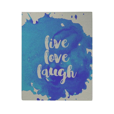 Live Love Laugh Canvas Poster