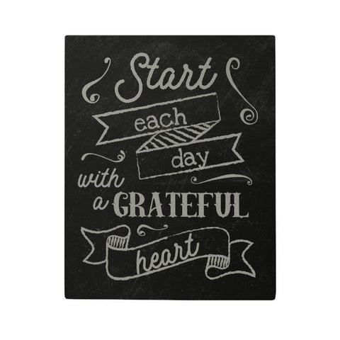 Start Each Day Canvas Poster