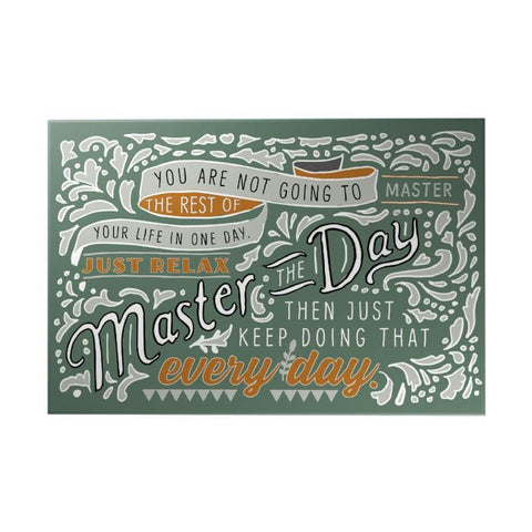 Master the Day Decoposter