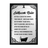 Bathroom Rules Decoposter