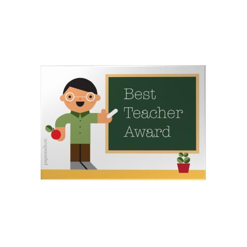 Best Teacher Award Small Decoposter: Male