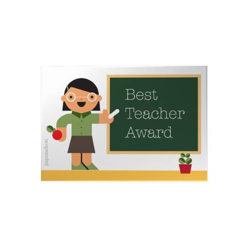Best Teacher Award Small Decoposter: Female