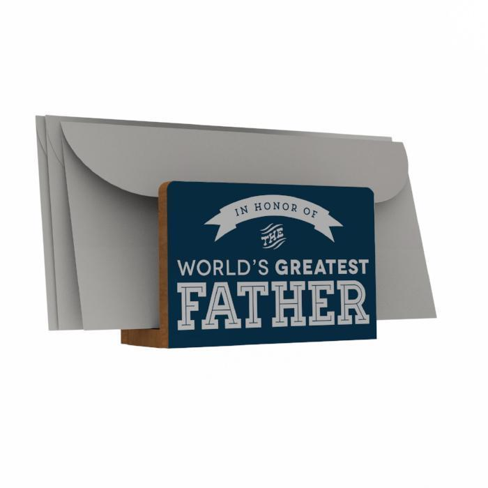 World's Greatest Father Letter Holder