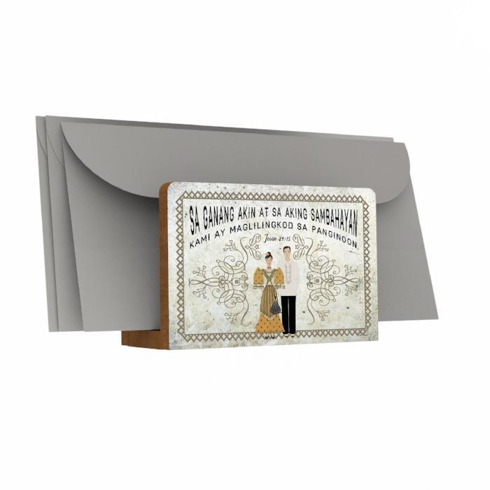 Filipiniana Letter Holder