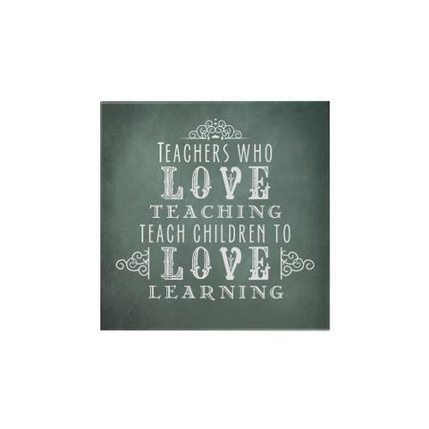 Teachers Who Love Teaching Square Magnet