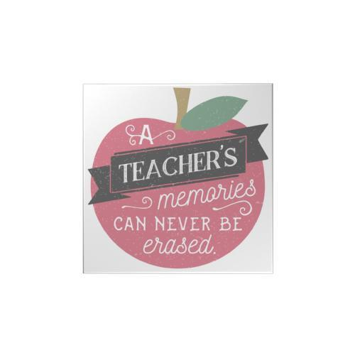 A Teachers Memories Square Magnet