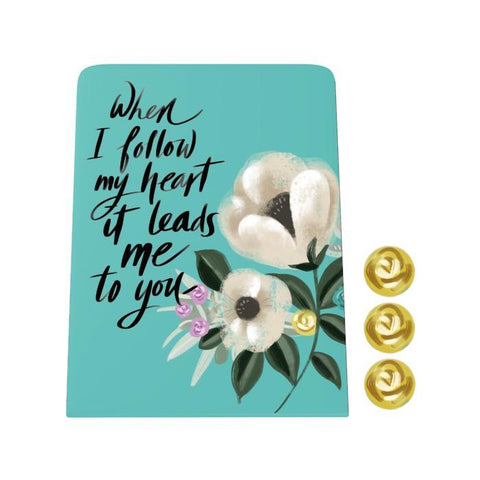 When I Follow My Heart Desk Magnet Board