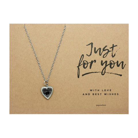Heart Locket Necklace Jewelry Gift Card